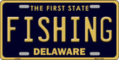 Fishing Delaware Novelty Wholesale Metal License Plate LP-6724