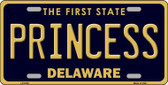 Princess Delaware Novelty Wholesale Metal License Plate LP-6728