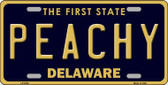 Peachy Delaware Novelty Wholesale Metal License Plate LP-6740