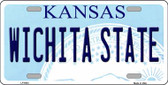 Wichita State Kansas Novelty Wholesale Metal License Plate LP-6603