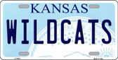 Wildcats Kansas Novelty Wholesale Metal License Plate LP-6604