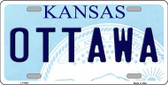 Ottawa Kansas Novelty Wholesale Metal License Plate LP-6607