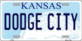 Dodge City Kansas Novelty Wholesale Metal License Plate LP-6614