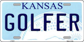 Golfer Kansas Novelty Wholesale Metal License Plate LP-6619