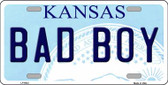 Bad Boy Kansas Novelty Wholesale Metal License Plate LP-6623