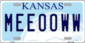Meeooww Kansas Novelty Wholesale Metal License Plate