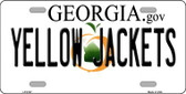 Yellow Jackets Georgia Novelty Wholesale Metal License Plate