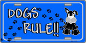 Dogs Rule Novelty Wholesale Metal License Plate