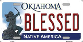 Blessed Oklahoma Novelty Wholesale Metal License Plate LP-6223