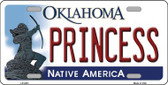 Princess Oklahoma Novelty Wholesale Metal License Plate LP-6231