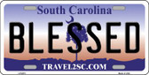 Blessed South Carolina Novelty Wholesale Metal License Plate LP-6273