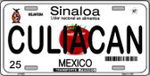 Culiacan Mexico Novelty Background Wholesale Metal License Plate LP-4823