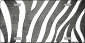 Gray White Zebra Oil Rubbed Wholesale Metal Novelty License Plate