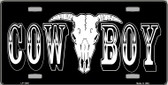 Cowboy Longhorn Skull Novelty Wholesale Metal License Plate LP-1240