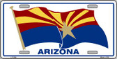 Arizona Waving Flag Novelty Wholesale Metal License Plate LP-1249