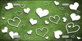 Lime Green White Love Print Oil Rubbed Wholesale Metal Novelty License Plate