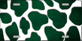 Green White Giraffe Oil Rubbed Wholesale Metal Novelty License Plate