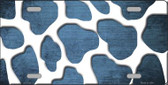 Light Blue White Giraffe Oil Rubbed Wholesale Metal Novelty License Plate