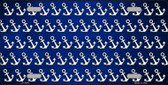 Blue White Anchor Print Oil Rubbed Wholesale Metal Novelty License Plate
