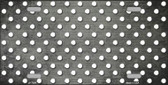 Gray White Small Dots Print Oil Rubbed Wholesale Metal Novelty License Plate