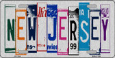 New Jersey License Plate Art Brushed Aluminum Wholesale Metal Novelty License Plate