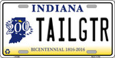 Tailgtr Indiana Novelty Wholesale Metal License Plate