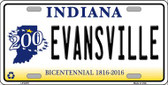 Evansville Indiana Novelty Wholesale Metal License Plate