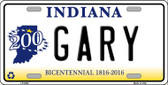 Gary Indiana Novelty Wholesale Metal License Plate