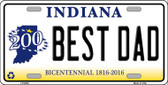 Best Dad Indiana Novelty Wholesale Metal License Plate