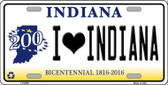 I Love Indiana Novelty Wholesale Metal License Plate
