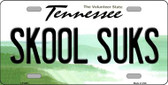 Skool Suks Tennessee Novelty Wholesale Metal License Plate