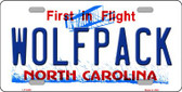 Wolfpack North Carolina Novelty Wholesale Metal License Plate