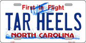 Tar Heels North Carolina Novelty Wholesale Metal License Plate