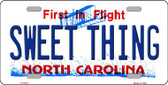 Sweet Thing North Carolina Novelty Wholesale Metal License Plate