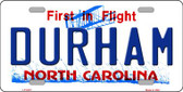 Durham North Carolina Novelty Wholesale Metal License Plate