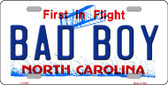 Bad Boy North Carolina Novelty Wholesale Metal License Plate