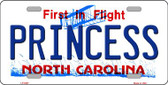 Princess North Carolina Novelty Wholesale Metal License Plate