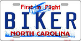Biker North Carolina Novelty Wholesale Metal License Plate