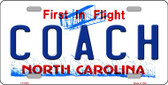 Coach North Carolina Novelty Wholesale Metal License Plate