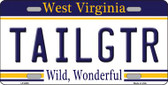 Tailgtr West Virginia Novelty Wholesale Metal License Plate