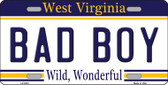Bad Boy West Virginia Novelty Wholesale Metal License Plate