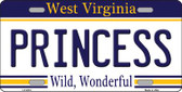 Princess West Virginia Novelty Wholesale Metal License Plate