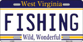 Fishing West Virginia Novelty Wholesale Metal License Plate