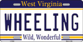 Wheeling West Virginia Novelty Wholesale Metal License Plate
