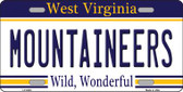 Mountaineers West Virginia Novelty Wholesale Metal License Plate
