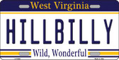 Hillbilly West Virginia Novelty Wholesale Metal License Plate