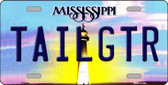 Tailgtr Mississippi Novelty Wholesale Metal License Plate