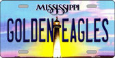 Golden Eagles Mississippi Novelty Wholesale Metal License Plate