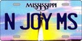 N Joy Mississippi Novelty Wholesale Metal License Plate