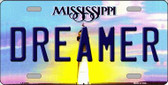 Dreamer Mississippi Novelty Wholesale Metal License Plate
